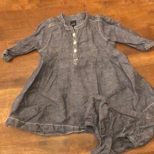 Gap Chambray Dress & bloomers Set- 18 months
